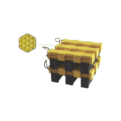 """Turtle Plastics Cribbing Stacking Crib Block 4/"""" x 4/"""" x 18/"""""""